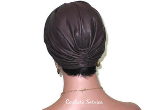 Handmade Leather Turban, Plum - Couture Service  - 4