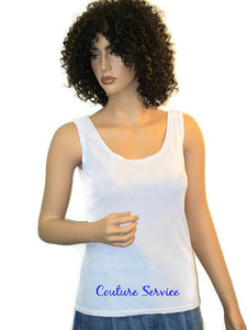 Handmade White, Open Back, Rhinestone, Summer Tank Top - Couture Service  - 5
