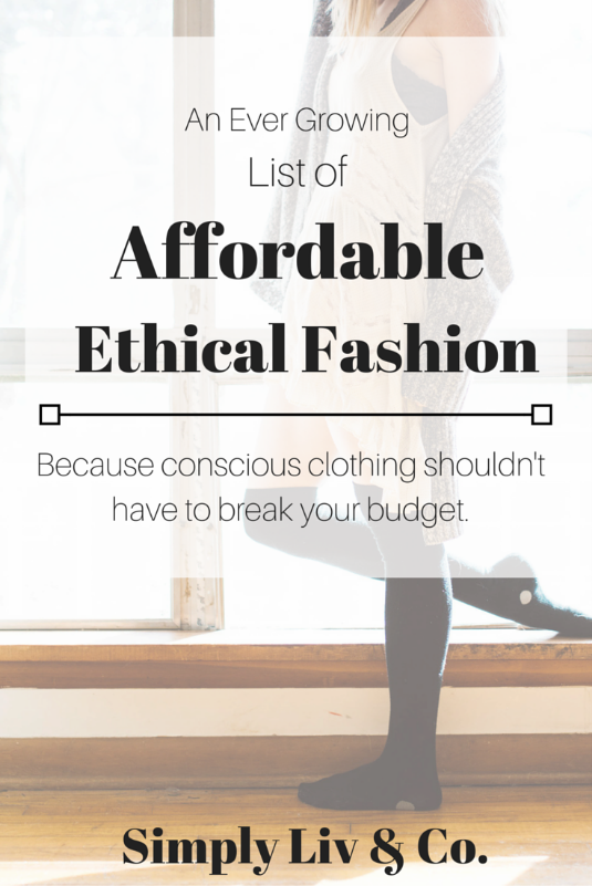 "On the List: Simple Liv & Co's ""Best Places to Buy Affordable Ethical Fashion"""