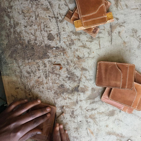 ENAT handmade card wallet leather made in ethiopia
