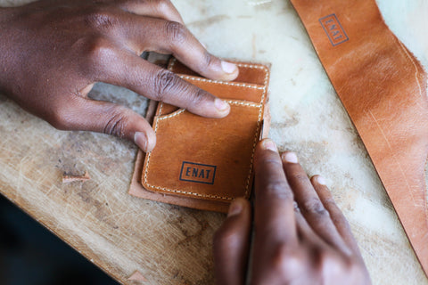 ENAT handmade made in ethiopia leather wallet