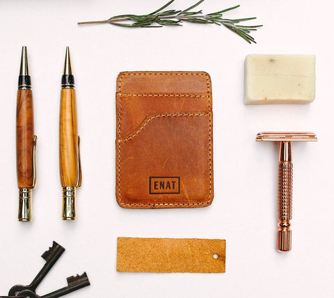 ADayPack ENAT Card Wallet Handmade Recycled Leather Scraps Conscious Sustainable Ethical Fashion
