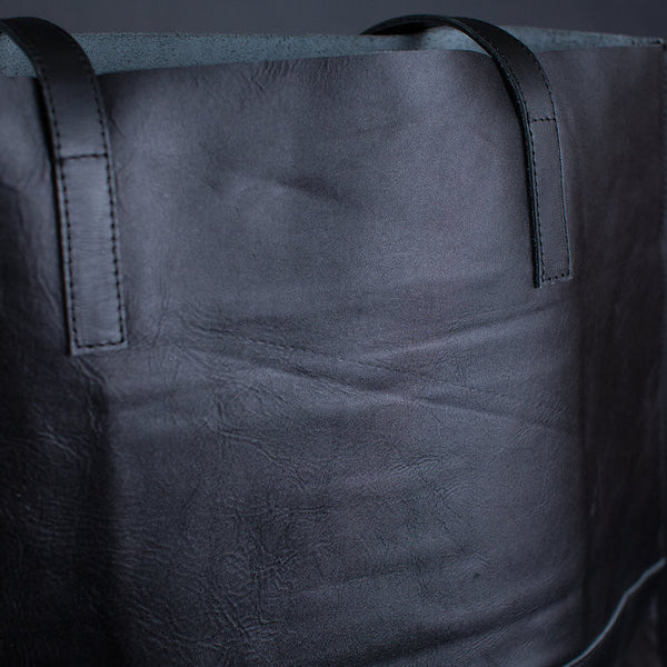 The Everyday Leather Tote - Black ODDBALL