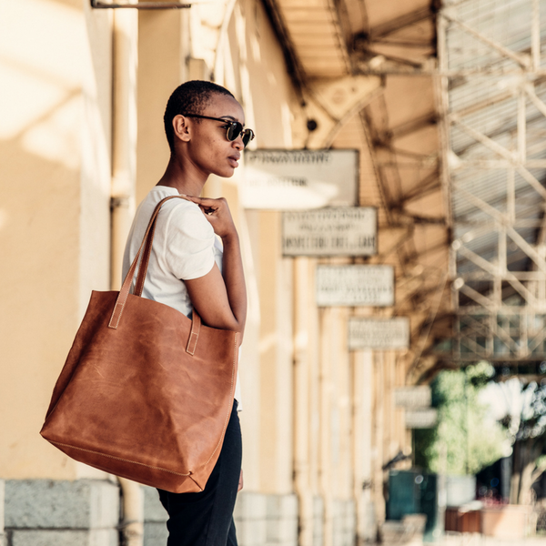 Vegetable-Tanned Everyday Tote