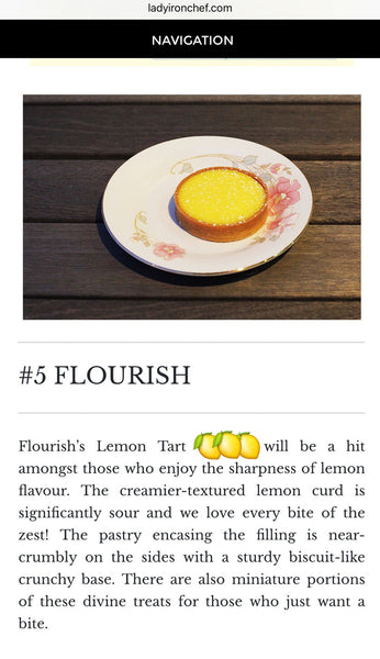 Lemon Tart - Elegant Rectangle