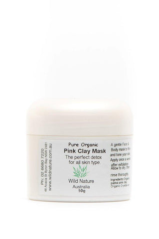 Wild Nature Organic Clay Mask - Pink