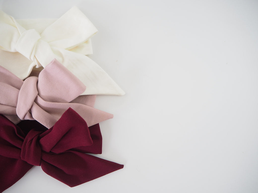 Handmade Bow Headband Wraps (3 pack)