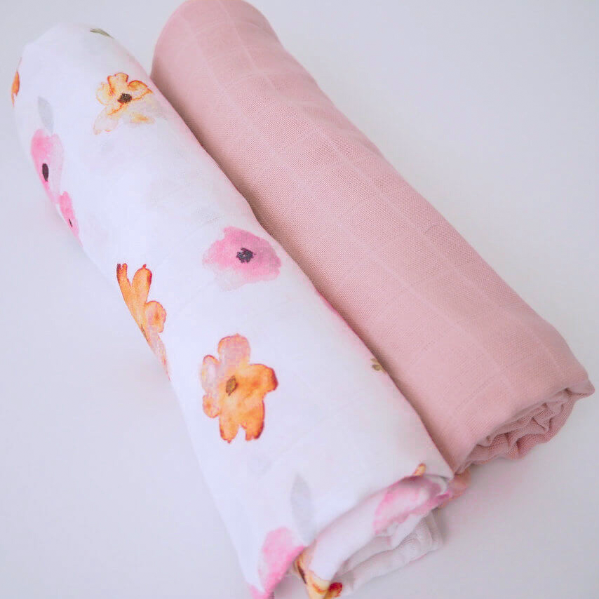 Poppy & Musk (2 pack) Muslin Wraps