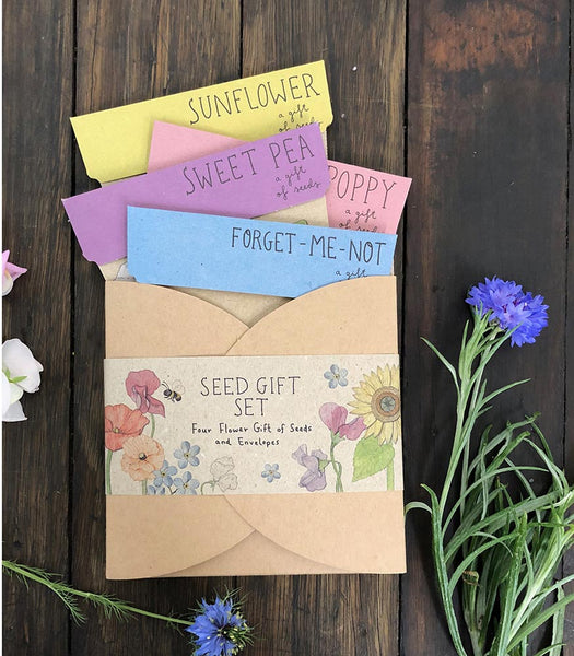Flower Seed Gift Pack - (4 Packs)
