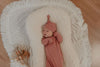 Mauve Rose Knotted Newborn Gown