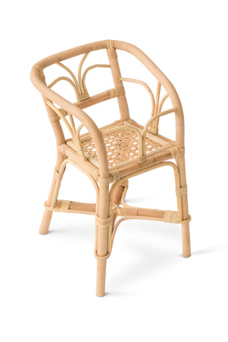 Poppie Toys Rattan Dolls High Chair
