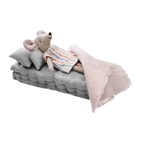 Linen Dolls Bed - Grey