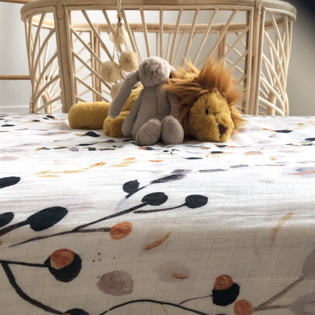 Golden Gum Bamboo Muslin Cot Sheet