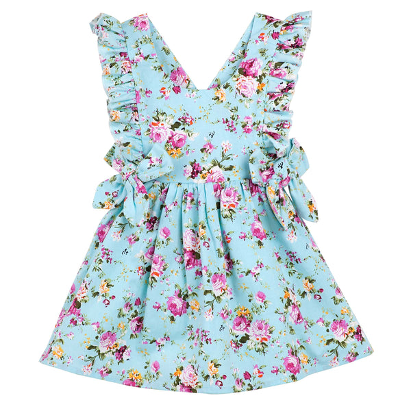Maisie Pinafore Dress - Aqua