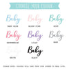 'Oh Baby' Pregnancy Announcement Plaque