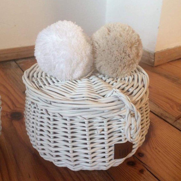 Wicker basket (small) - White