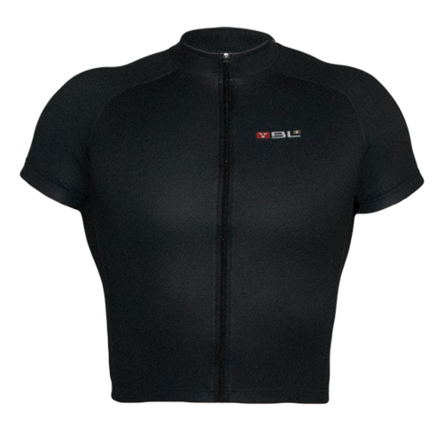 Kids Short Sleeved Cycling Jersey Black