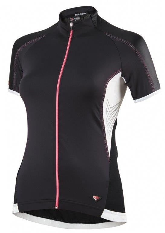 Womens Short Sleeve Cycling Jersey Euphoria Black