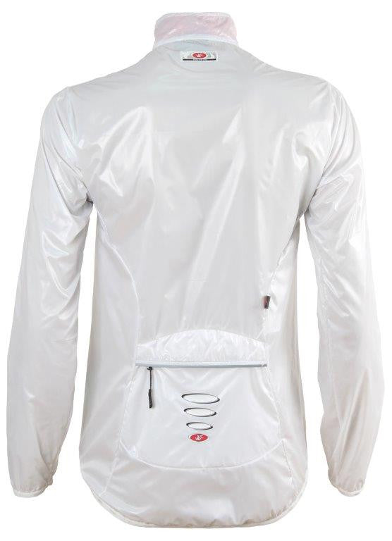 Womens Cycling Rain Jacket Jasmine White