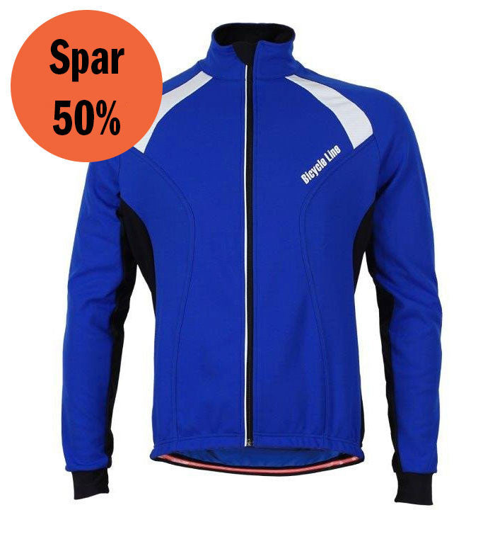 Italian Cycling Winter Jacket Erik Blue
