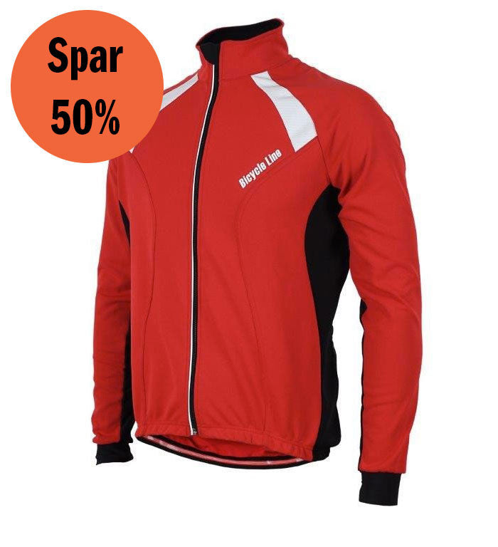 Italian Cycling Winter Jacket Erik Red