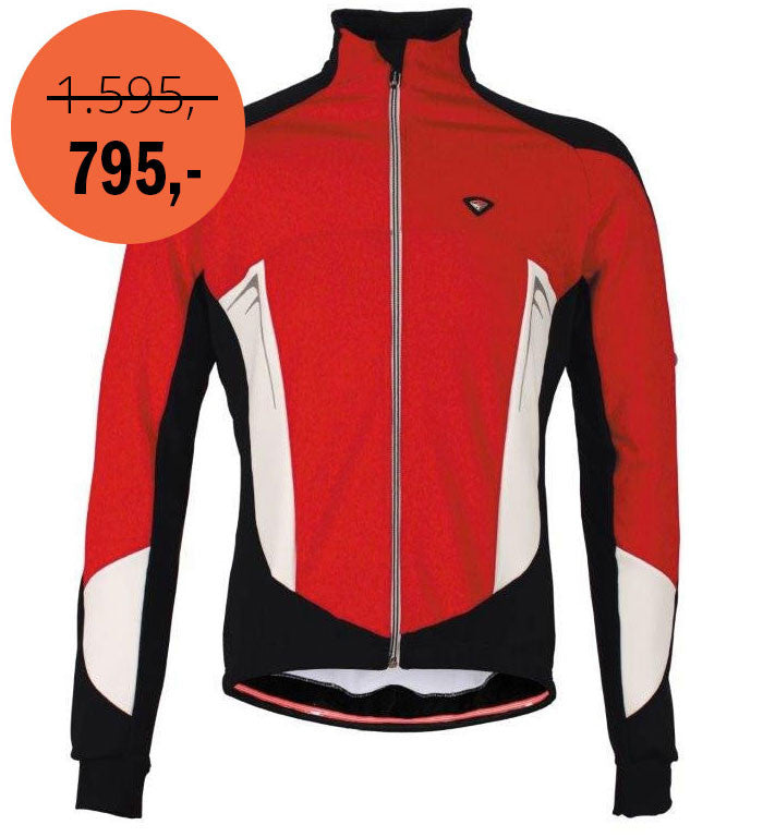 Italian Cycling Winter Jacket Fusion Red