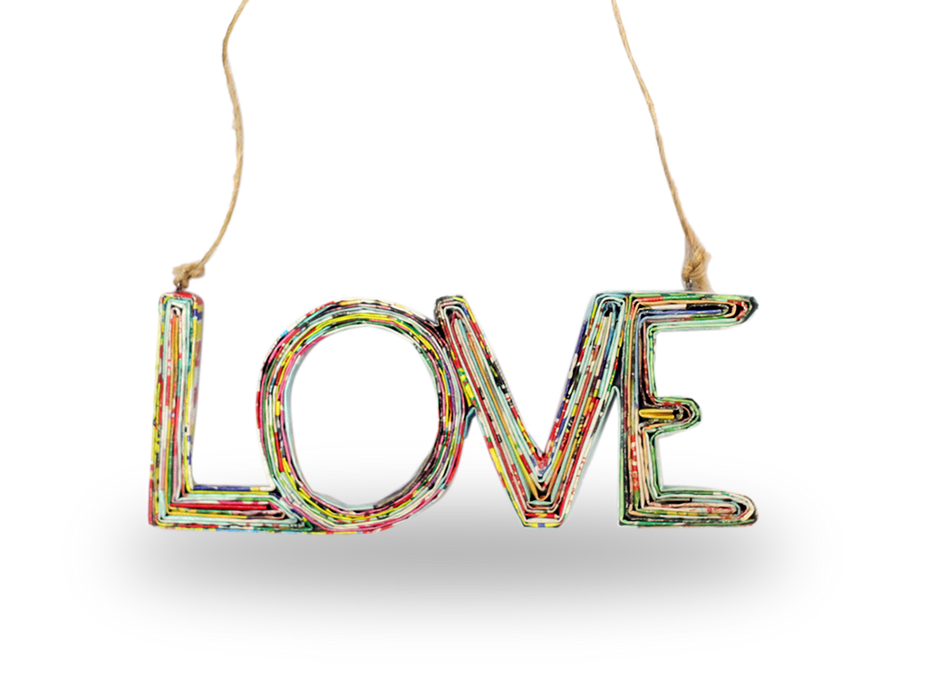 Hanging LOVE Ornament