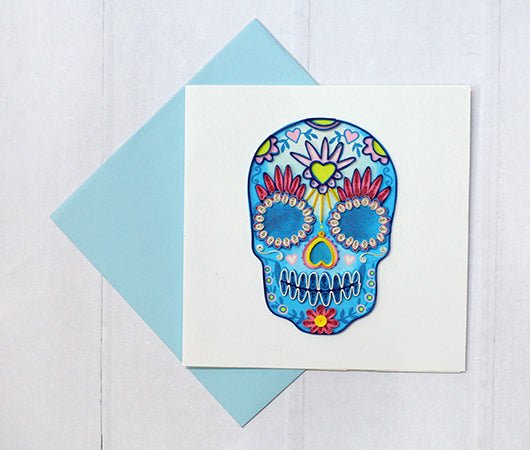 Sugar Skull Quilled Greeting Card