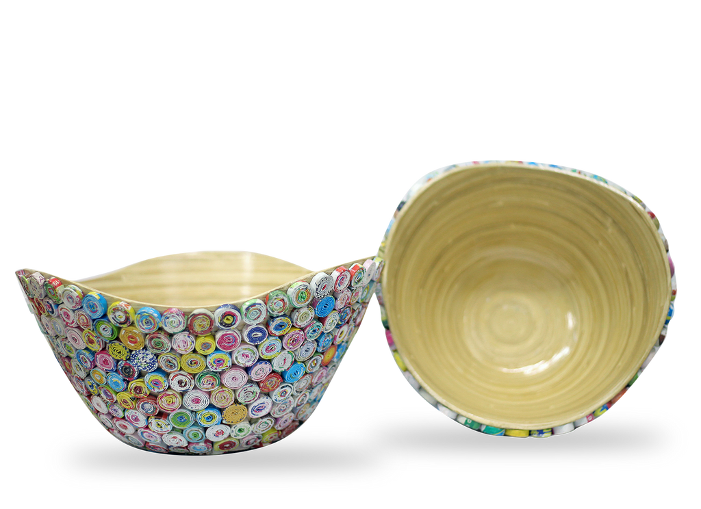 Bamboo & Recycled Paper Bowl Multi Color