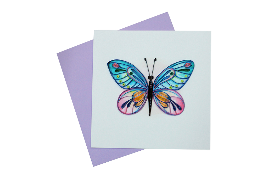 Butterfly Quilled Greeting Card