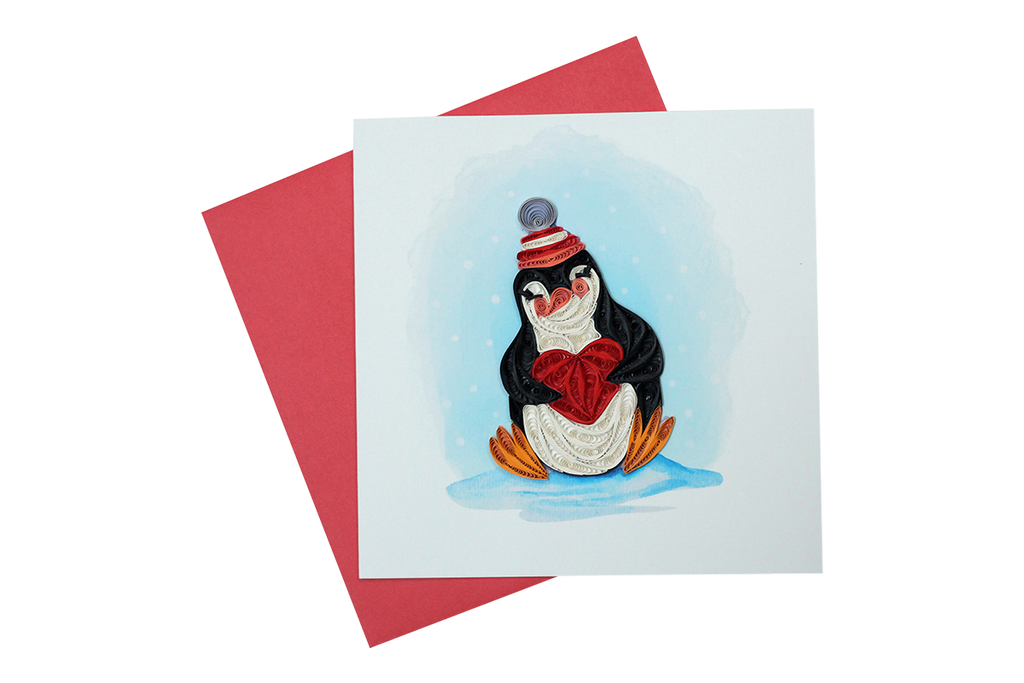 Penguin with Halo Greeting Card