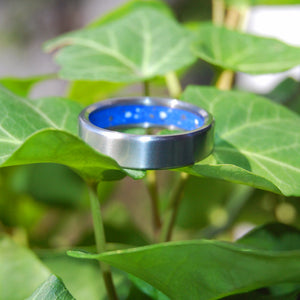 Concrete Titanium Wedding Rings