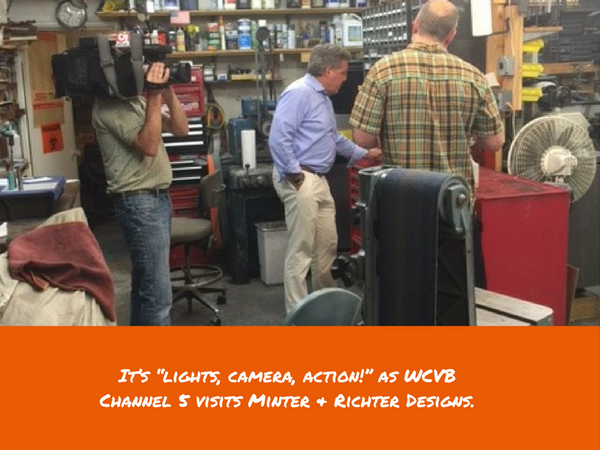 """Minter & Richter Designs Featured on WCVB Channel 5 """"Made in Mass"""""""