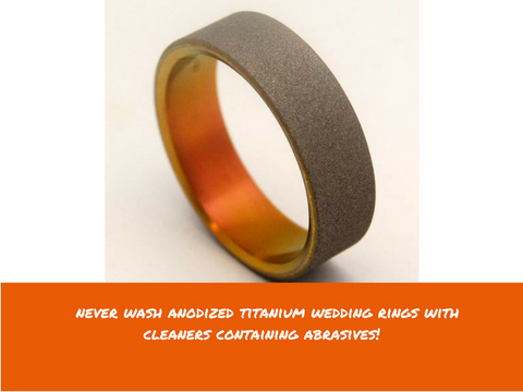 titanium wedding band care