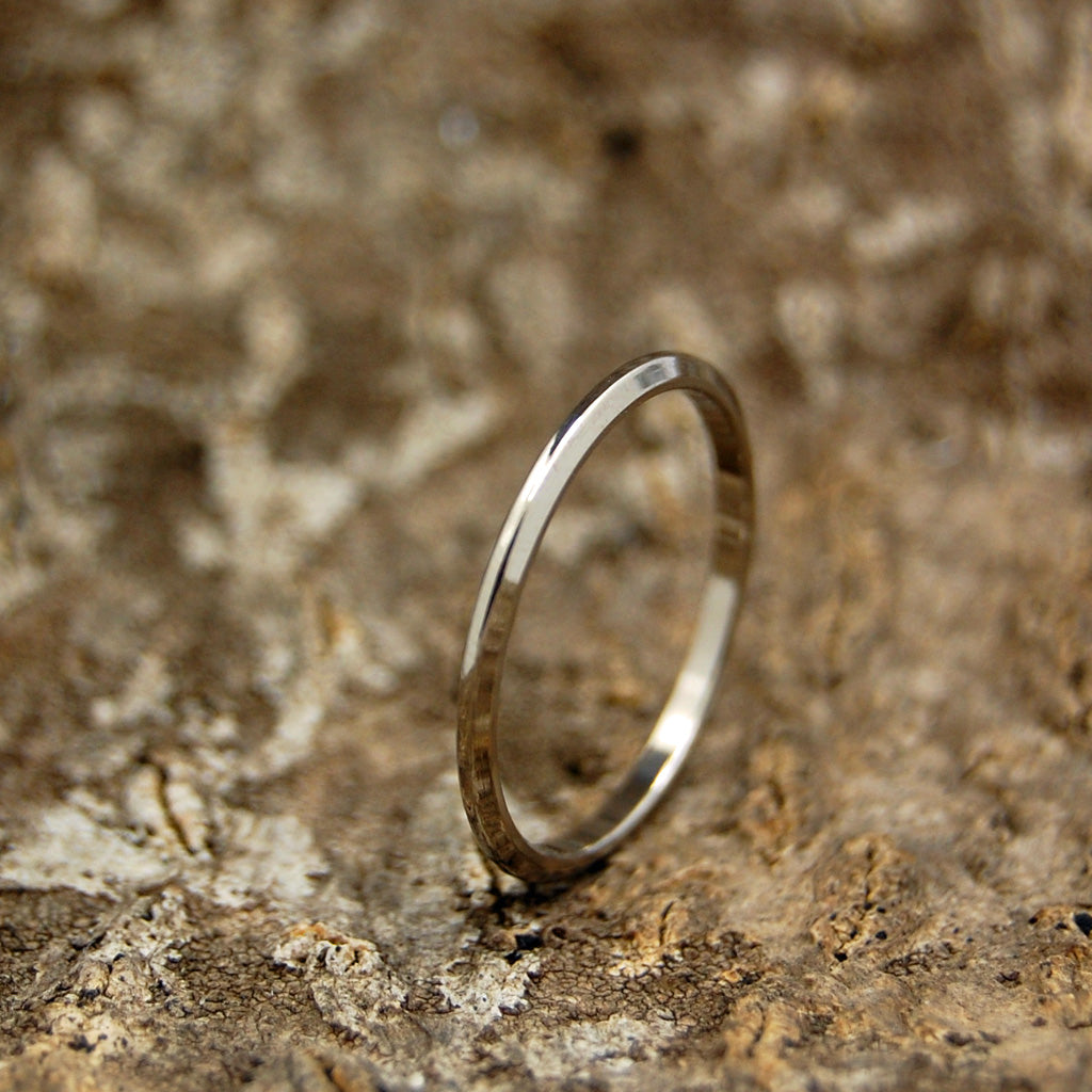 Titanium Wedding Rings | Itty Bitty Thin Line
