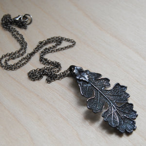 ANTIQUED FALLEN OAK LEAF NECKLACE | Bridal jewelry - Necklace - Minter and Richter Designs