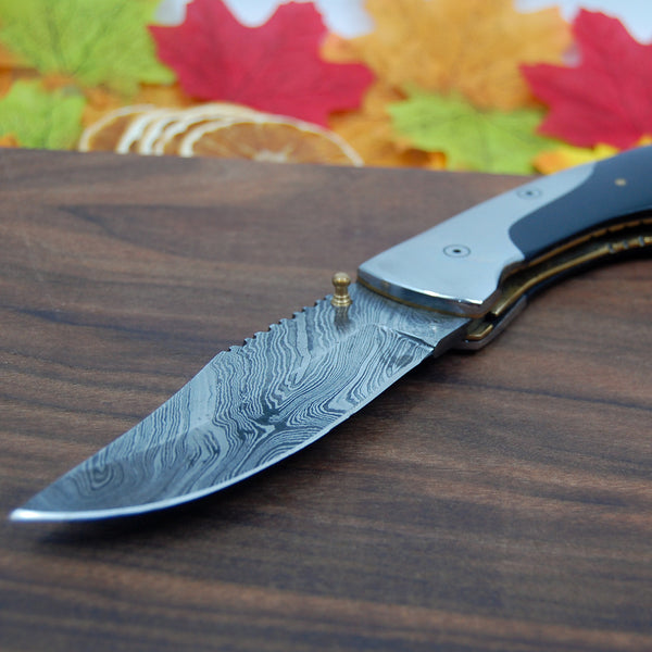 Groomsmen Gift Wedding Favors Boyfriend Gift Father/'s Day Gift Handmade Damascus folding Knife Anniversary Gifts Personalized Knives