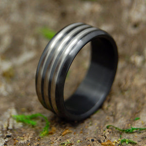 Mens Wedding Rings - Custom Mens Rings - Black Zirconium Mens Ring | ATOMIC GROOVE