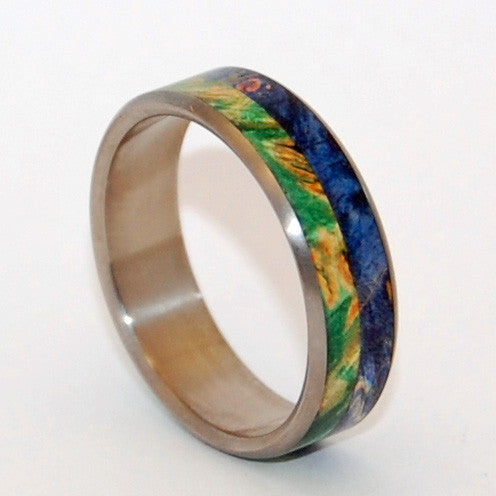 Wood and Titanium Wedding Ring |  DEEP AND EARTHLY LOVE - Minter and Richter Designs