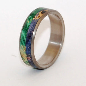 A Deep and Earthy Love | Wood and Titanium Wedding Ring