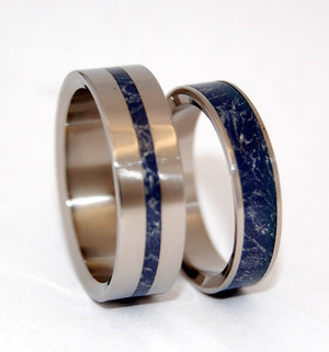 A LITTLE OF YOU IN ME | M3 &Titanium Wedding Ring Set - Minter and Richter Designs