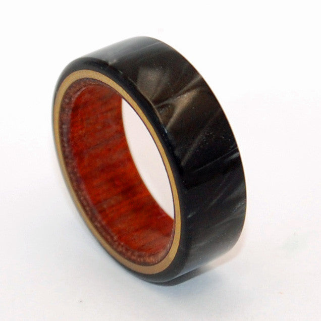 A Love You Can Lean On | Black and Wood Titanium Wedding Ring - Minter and Richter Designs