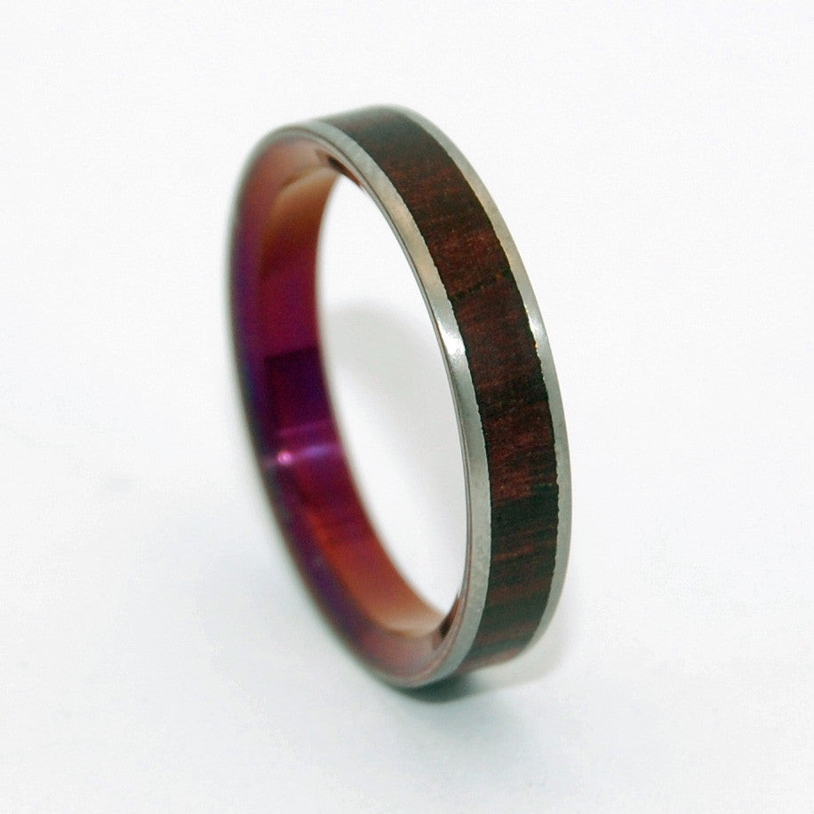 After Life's Kiss | Wooden Titanium Wedding Ring