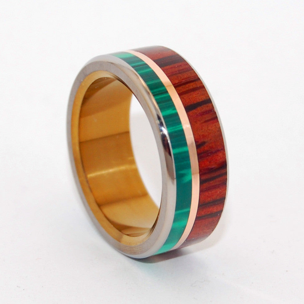 Men's Handcrafted Wedding Bands - Wood and Stone Wedding Rings | ALPHA BRONZE HORSEMAN