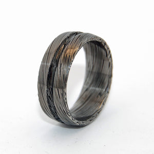 ASCEND SCALE | Damasteel Damascus Unique Men's Wedding Rings - Minter and Richter Designs
