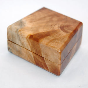 Hand Made One of a Kind Maple Ring Box - Minter and Richter Designs