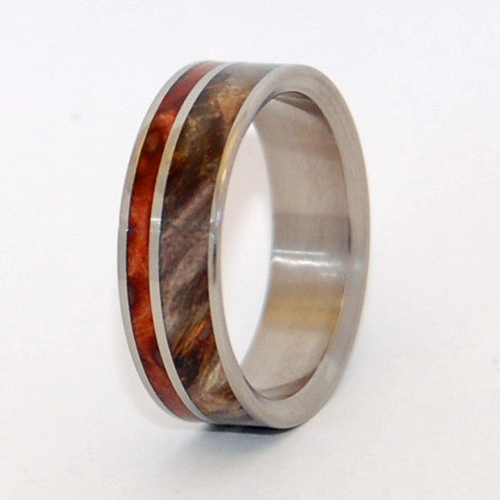 BETWEEN ANGELS | California Redwood & Buckeye Wood - Wooden Wedding Rings - Minter and Richter Designs