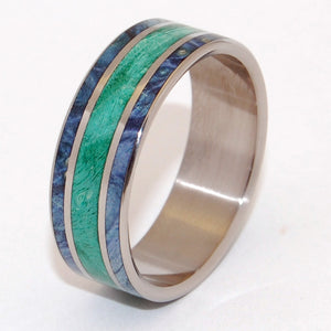 Between Oceans | Box Elder Wood Titanium Wedding Ring - Minter and Richter Designs