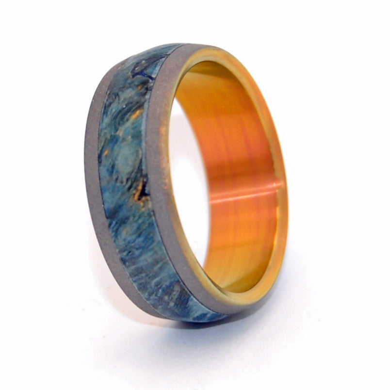Blue Box Elder Every Drop of Blue | Titanium Wedding Ring