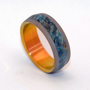 EVERY DROP | Box Elder Wood & Titanium - Unique Wedding Rings - Wooden Wedding Rings - Minter and Richter Designs